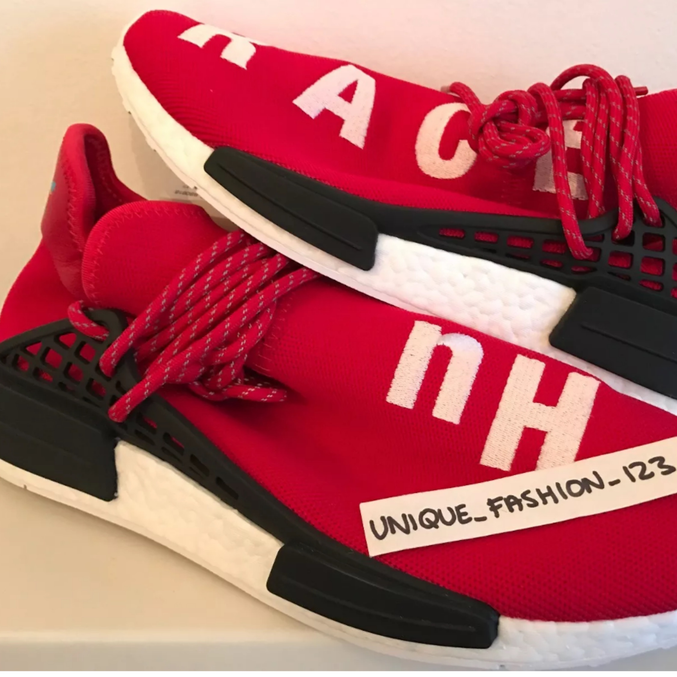 sale retailer 17e0d 9e8c1 Adidas Nmd Human Race Scarlet Red White Boost