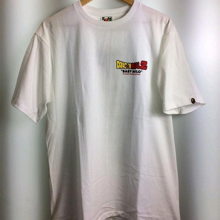 Bape T-Shirts White Cotton Printed Front Round Neck