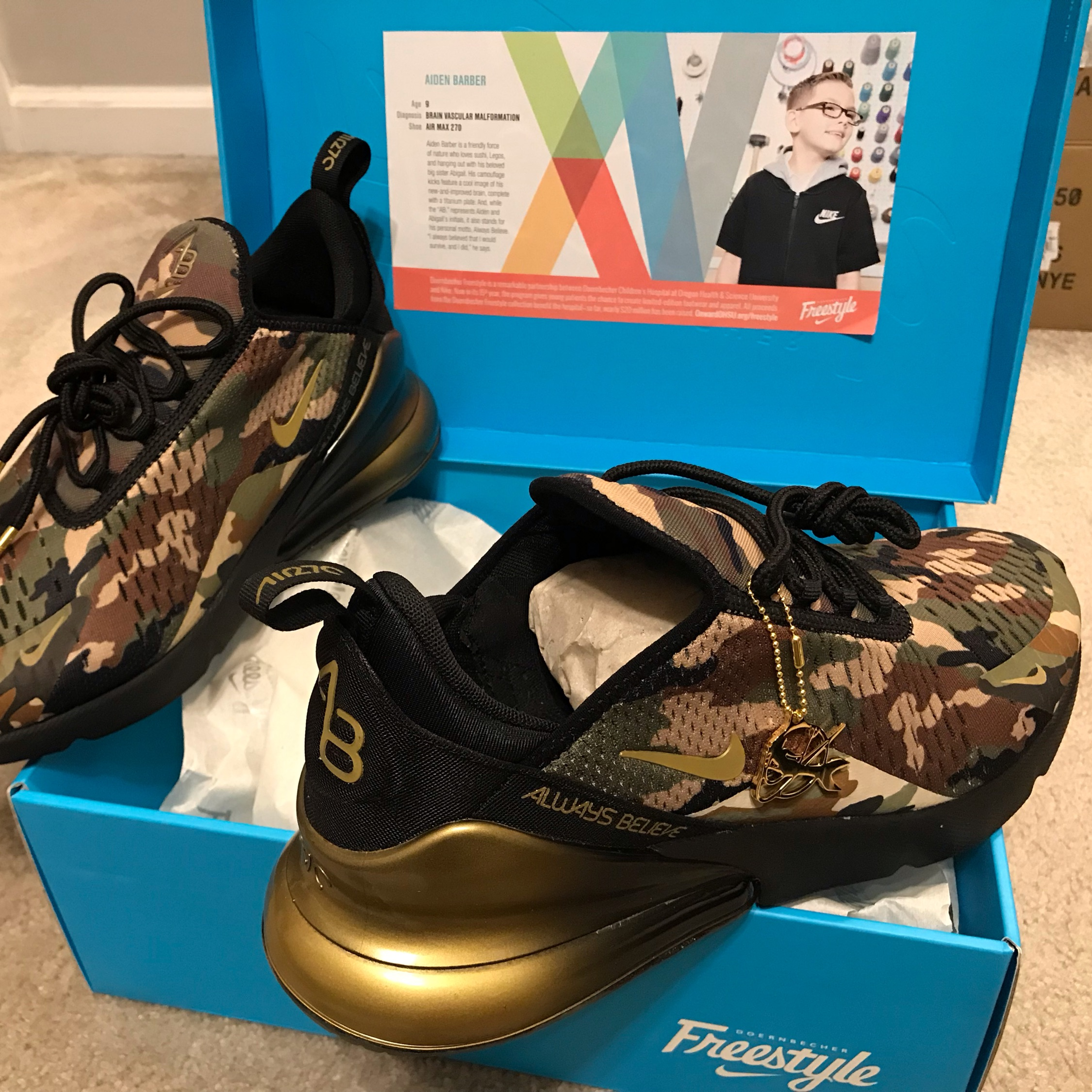 finest selection f4037 ad4bb Multiple Sizes, Nike Air Max 270 Doernbecher