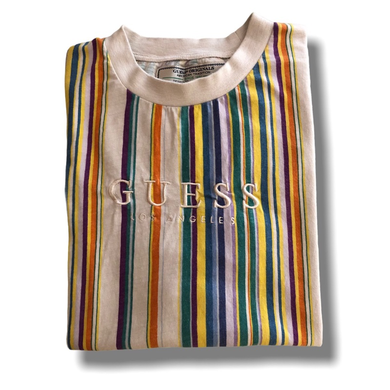 Guess multicolored striped shirt