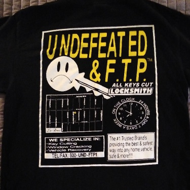 FTP X Undefeated Key T-shirt
