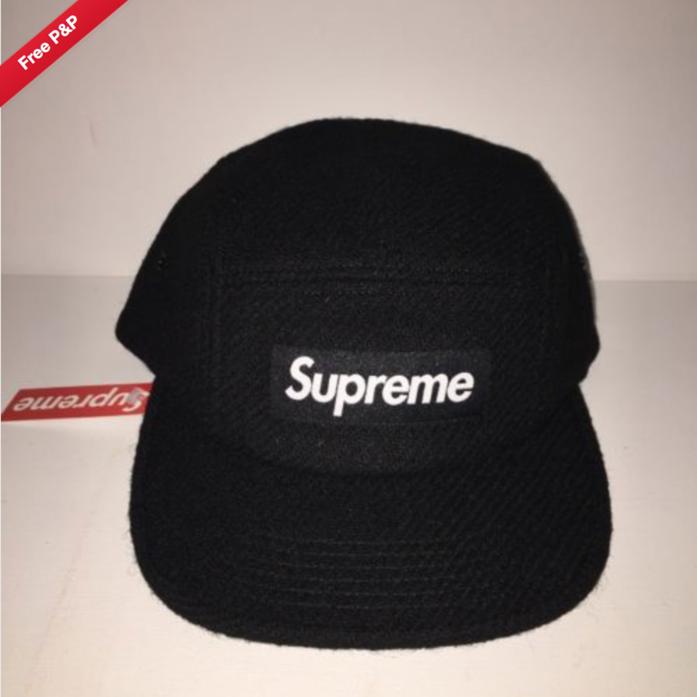 Supreme Feather Weight Wool Camp Cap Black
