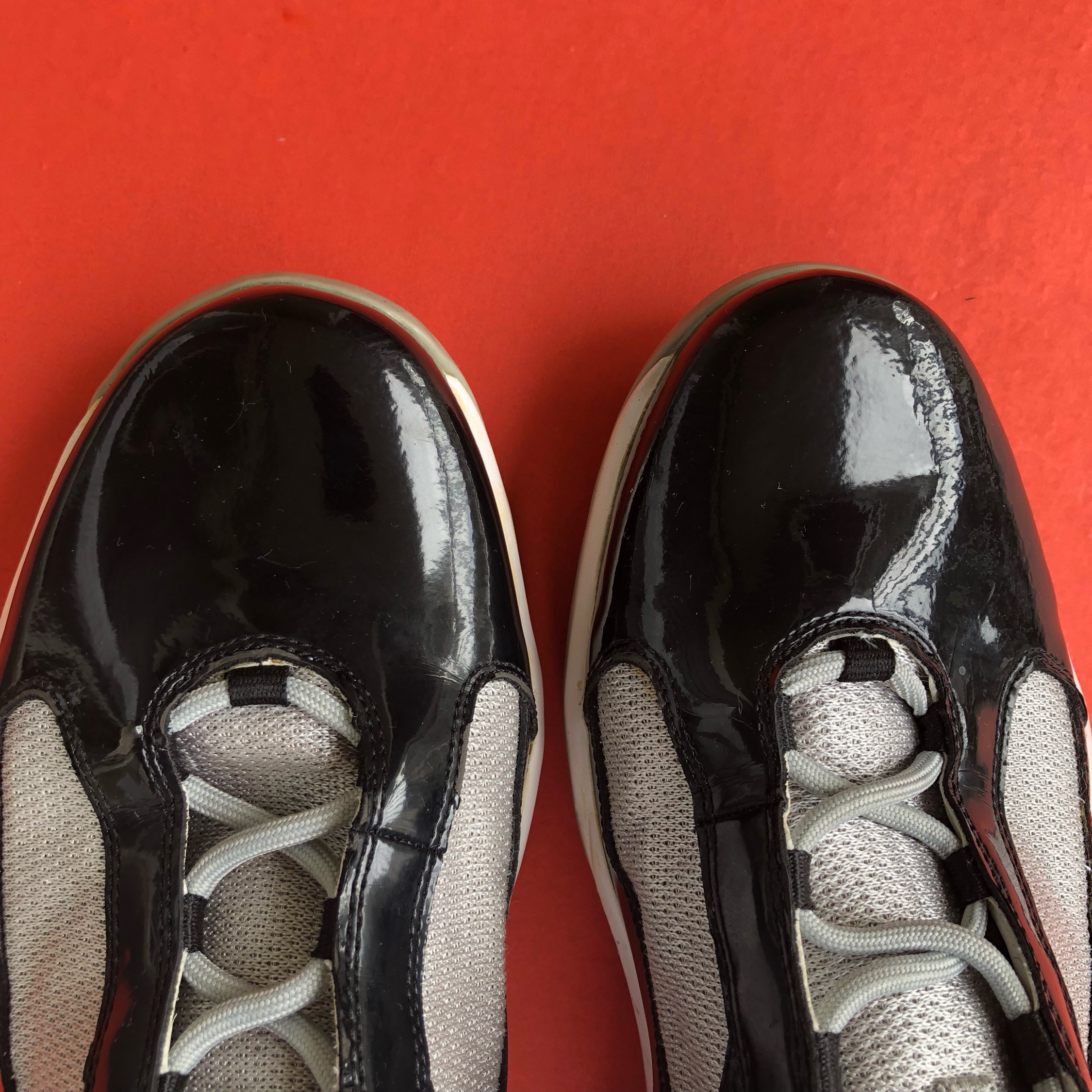 ad85f8742e Vintage Fila High Top Patent Leather Sneakers