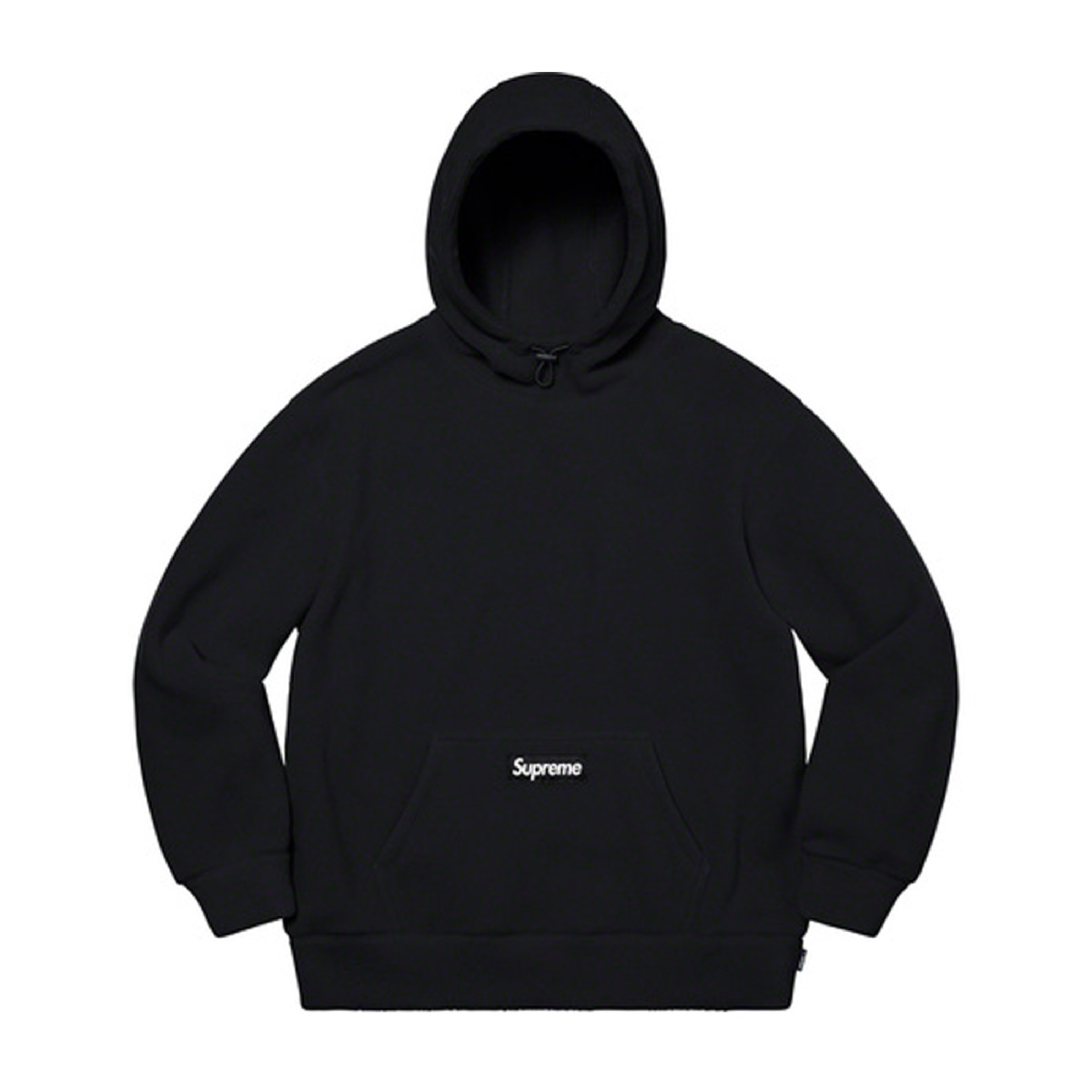Supreme Polartec Hooded Sweatshirt Black