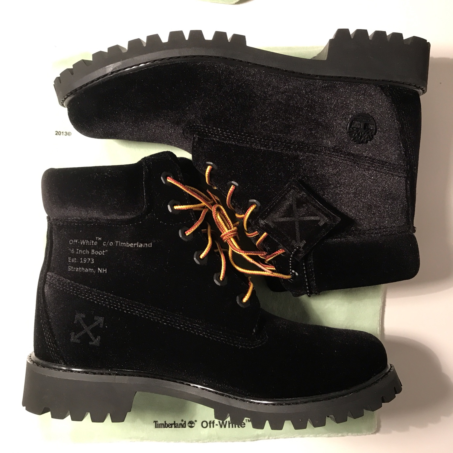 Timberland X Off White 6-Inch Boot Black