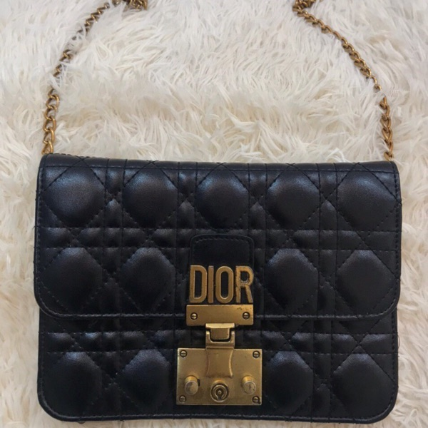 Dior Gold Spellout And Gold Chain Italy Bag