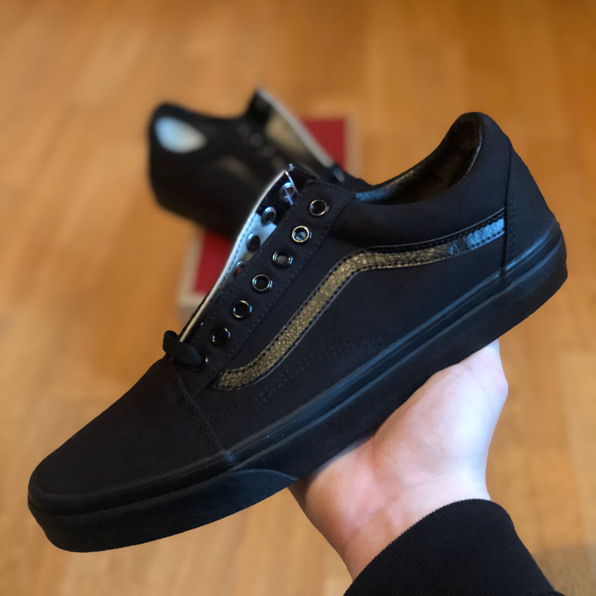 vans noir old skool triple