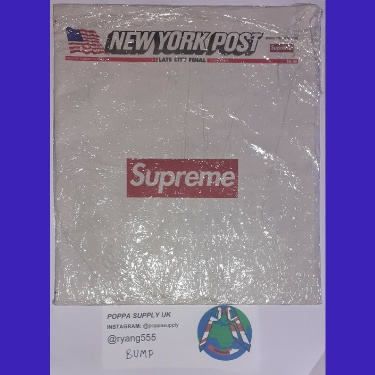 Supreme New York Post Newspaper