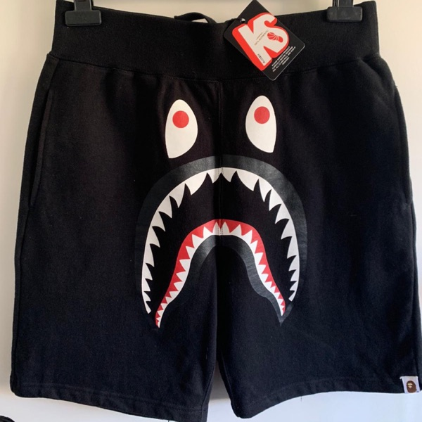 BAPE Shark Sweat Shorts Black