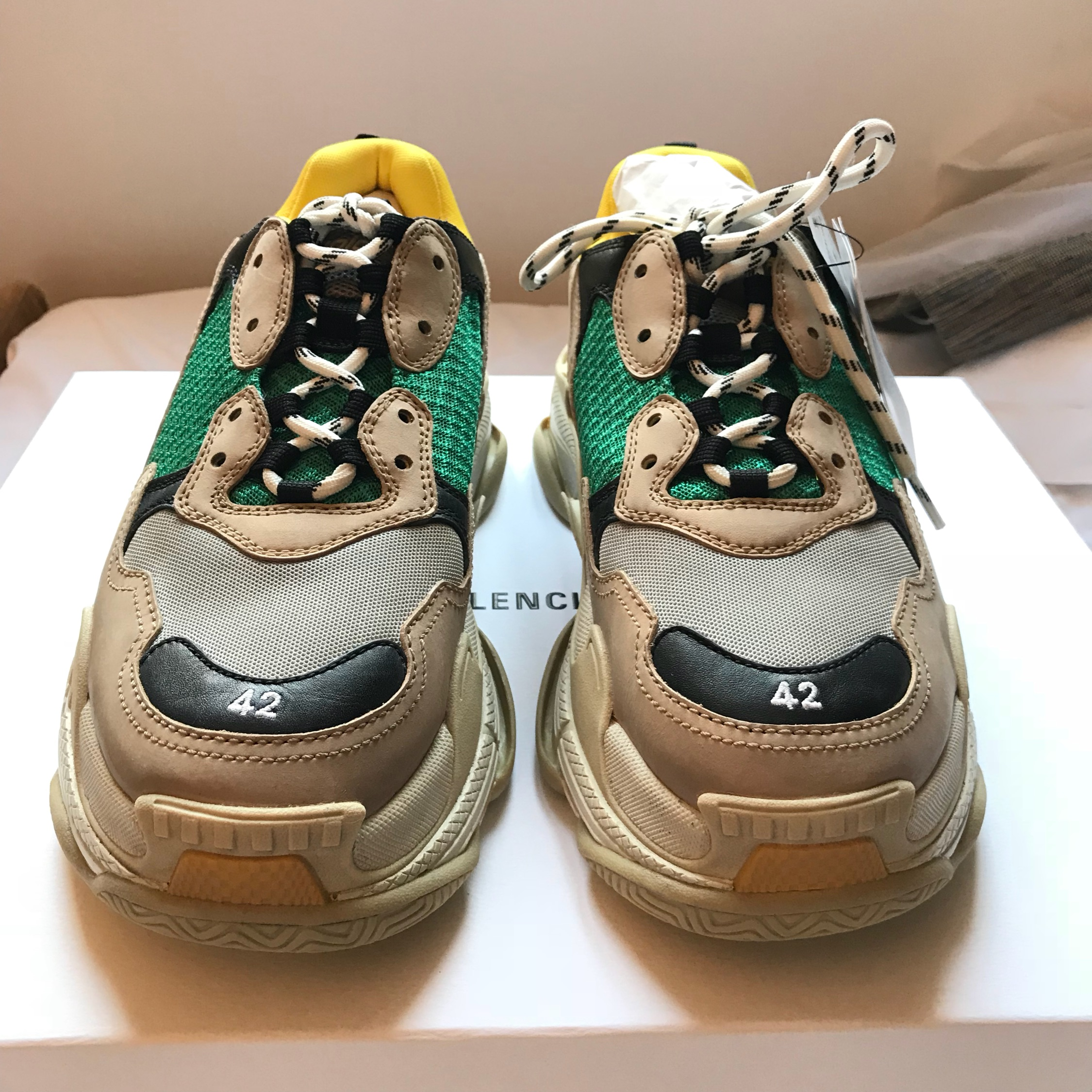Best Replica Balenciaga Triple S Clear Sole Yellow