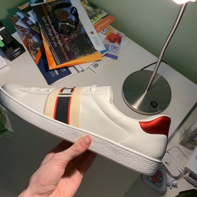Gucci Ace Stripe Leather Sneaker