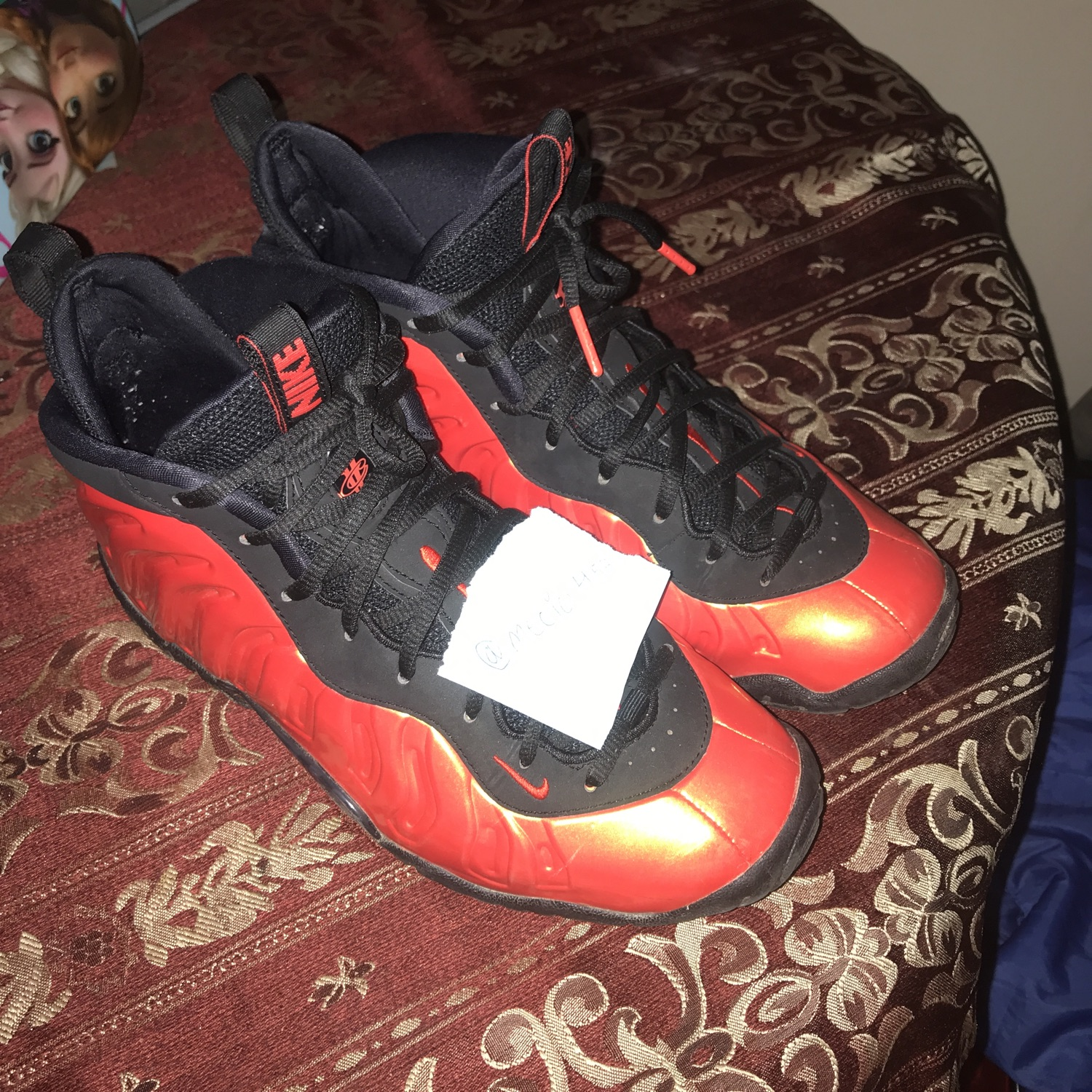 premium selection 2bf1f f73a3 Habanero Red Foamposites(Gs) Size 7