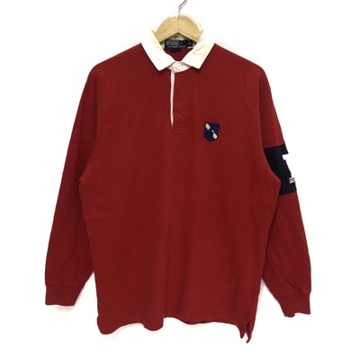 Vtg Polo Ralph Lauren P Wing Pony Rugby Shirt