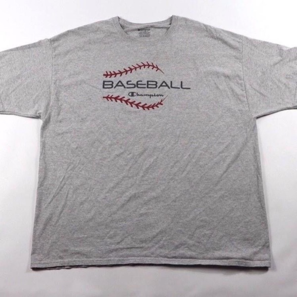 Vintage Champion Spellout Baseball Shirt