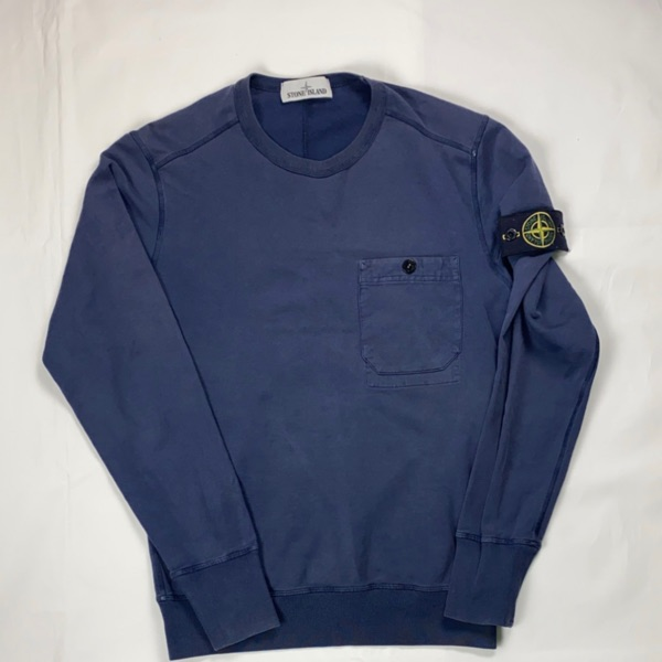 Stone Island Navy Pocket Jumper