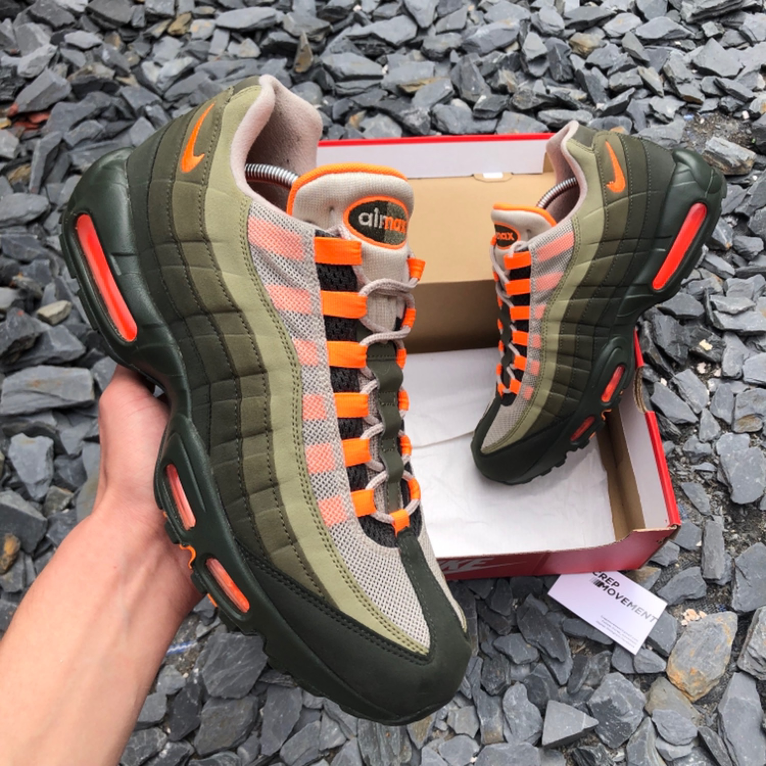 nike air max 95 orange and green
