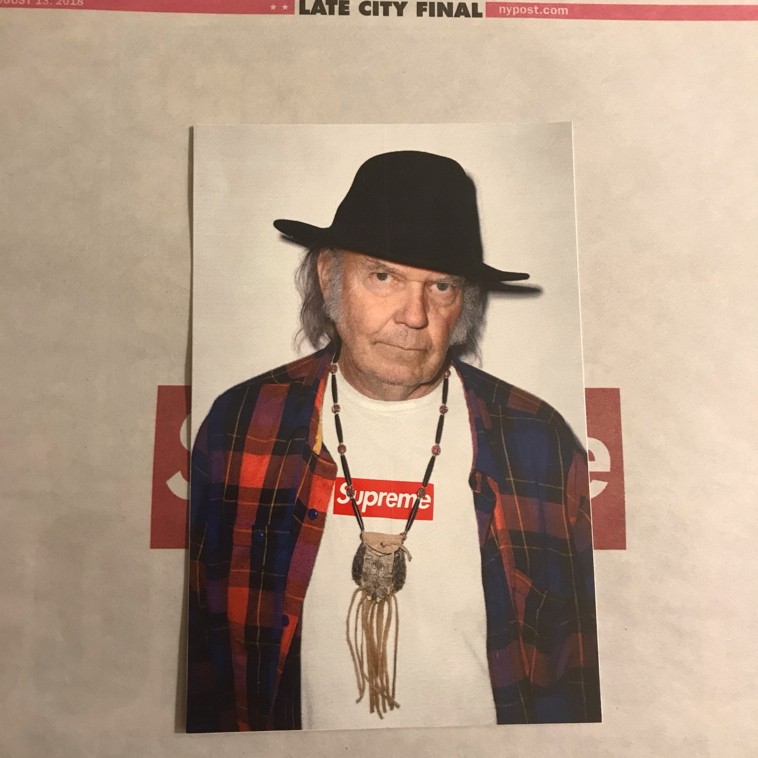 Supreme Neil Young Photo Sticker