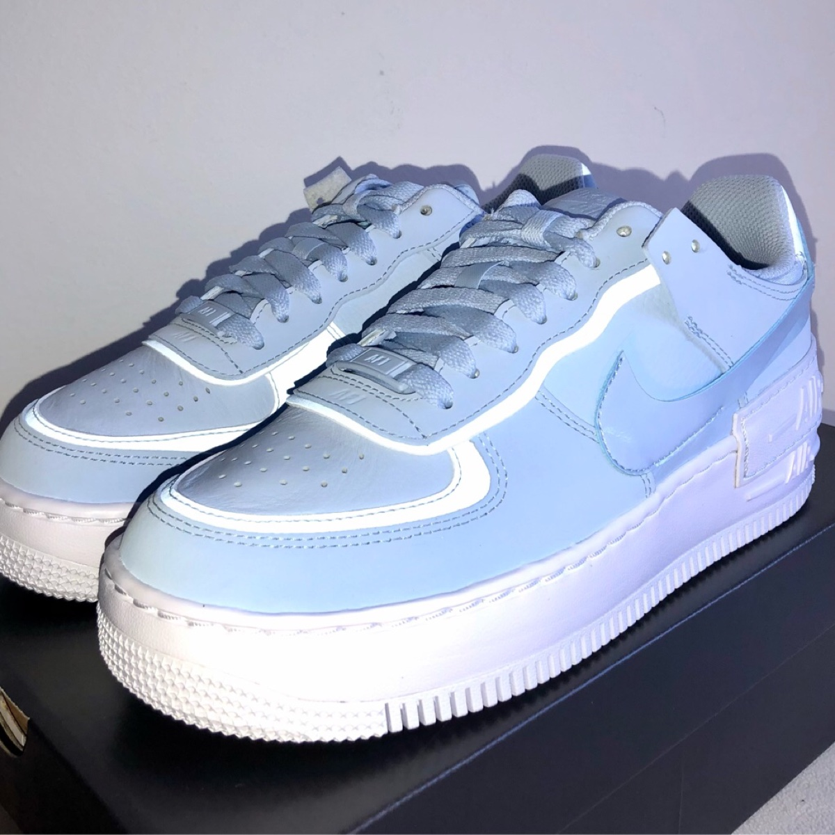 Nike Air Force 1 Shadow Hydrogen Blue 4.5 UK DS