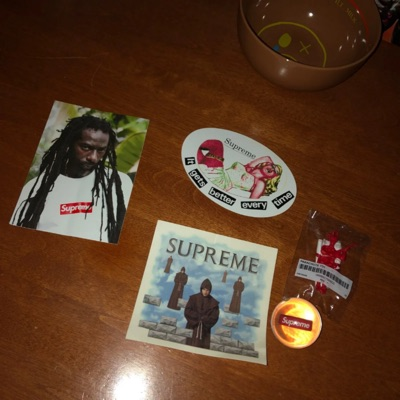 Supreme Stickers And Accessories