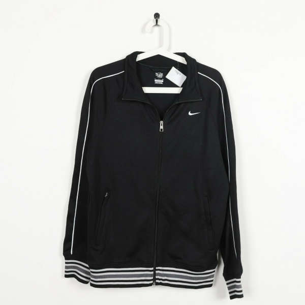 Vintage NIKE Small Logo Zip Up Track Top Jacket Black small S
