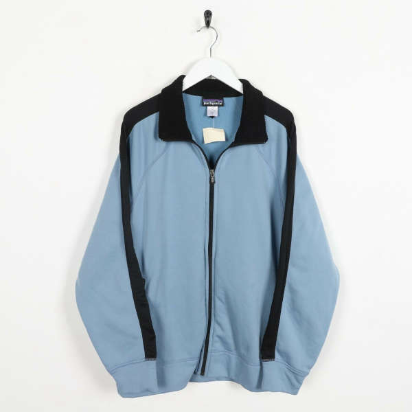 Vintage PATAGONIA Zip Up Track Top Jacket Blue | Large L