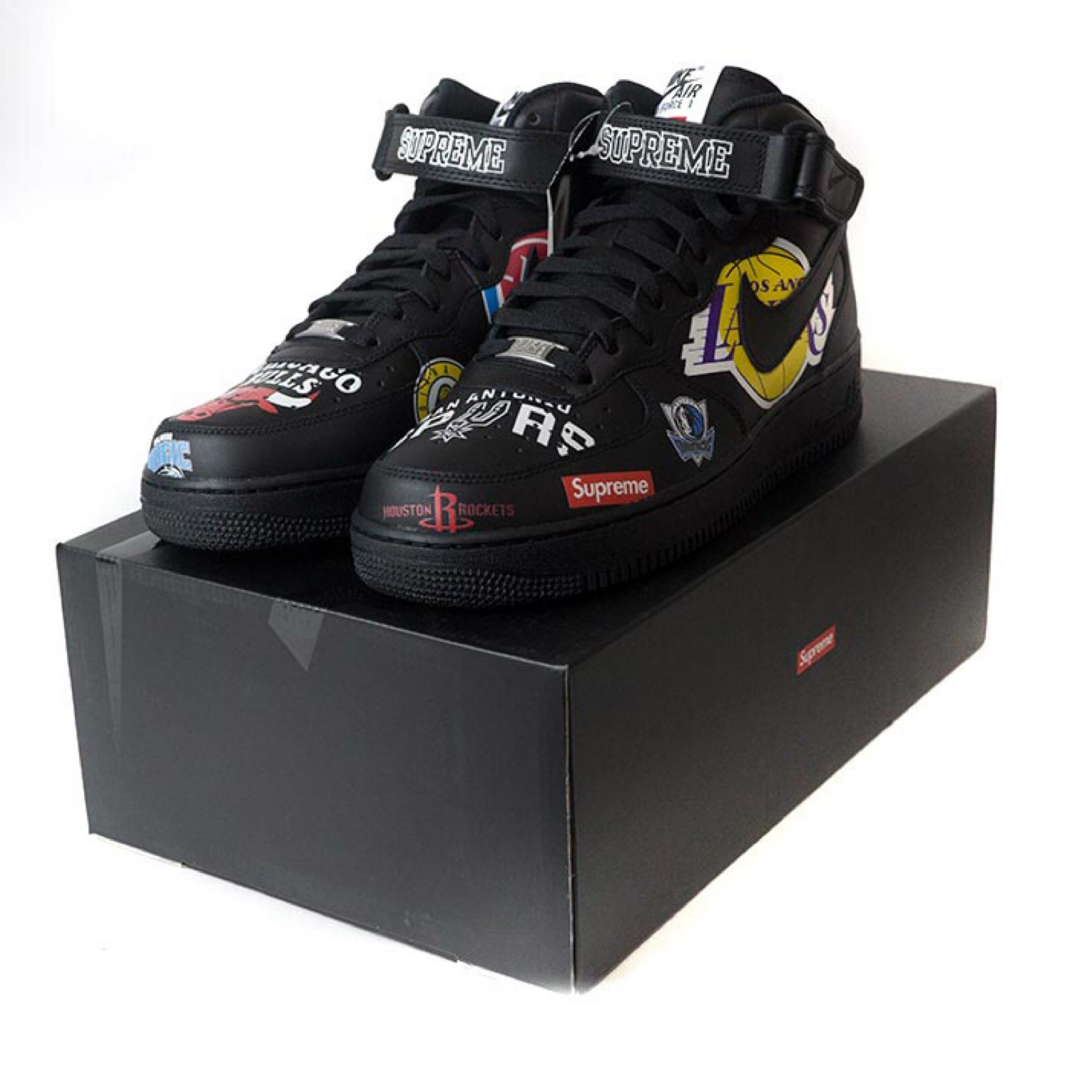 Supreme Nba Air Mid Force 1 Black F1KlJc