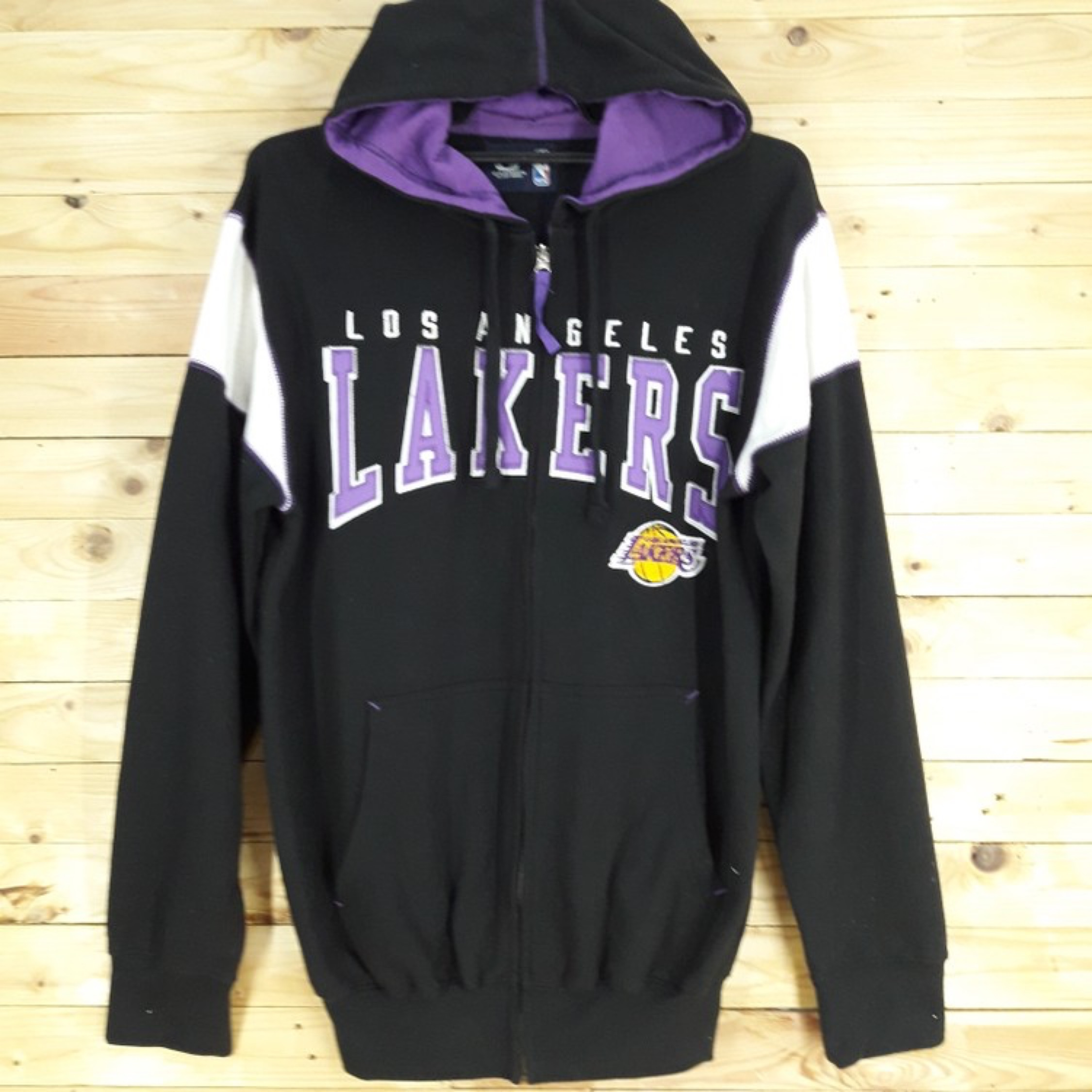 best loved 1b4bf b65ad Nba La Lakers Sweater Hoodie Embroided Spellout