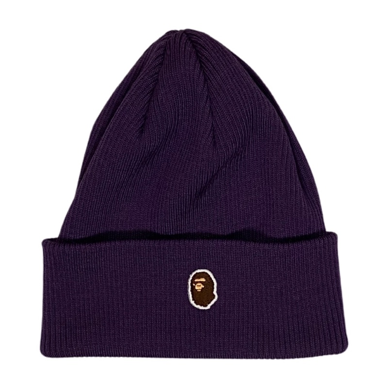 Bape Ape Head One Point Knit Cap Purple 2018