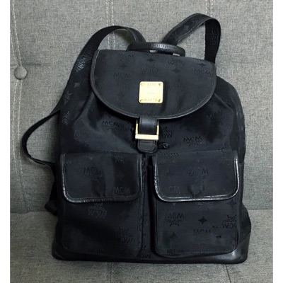Vintage Mcm Backpack Black Very Nice