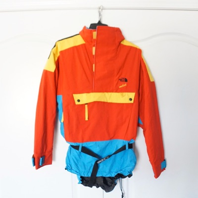 Vintage North Face Vertical Pullover Ski Coat Sm