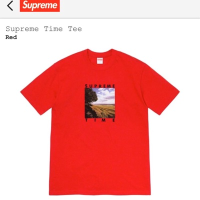 Supreme Time Tee Red