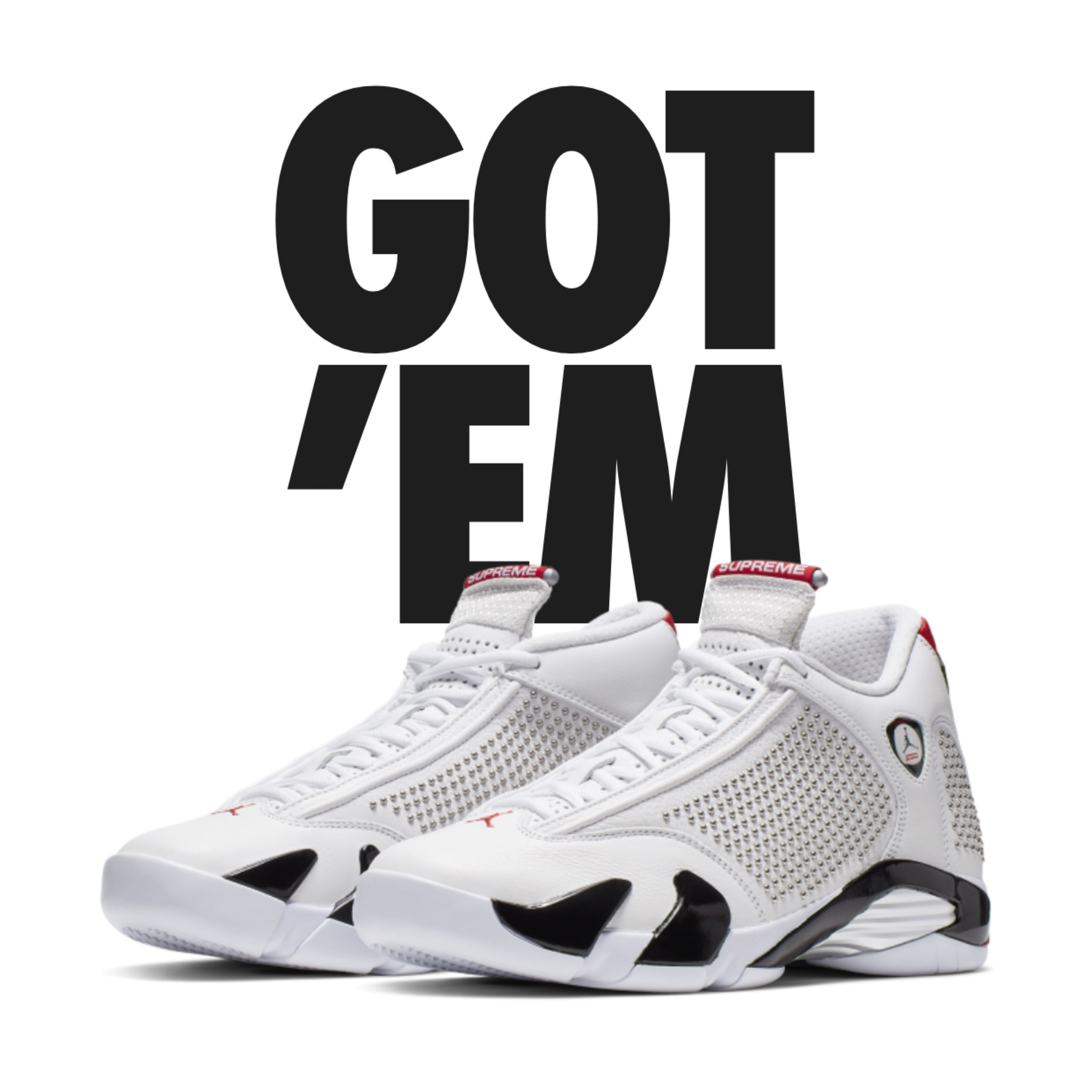 classic fit c7026 ad4cc Air Jordan 14 Retro Supreme White