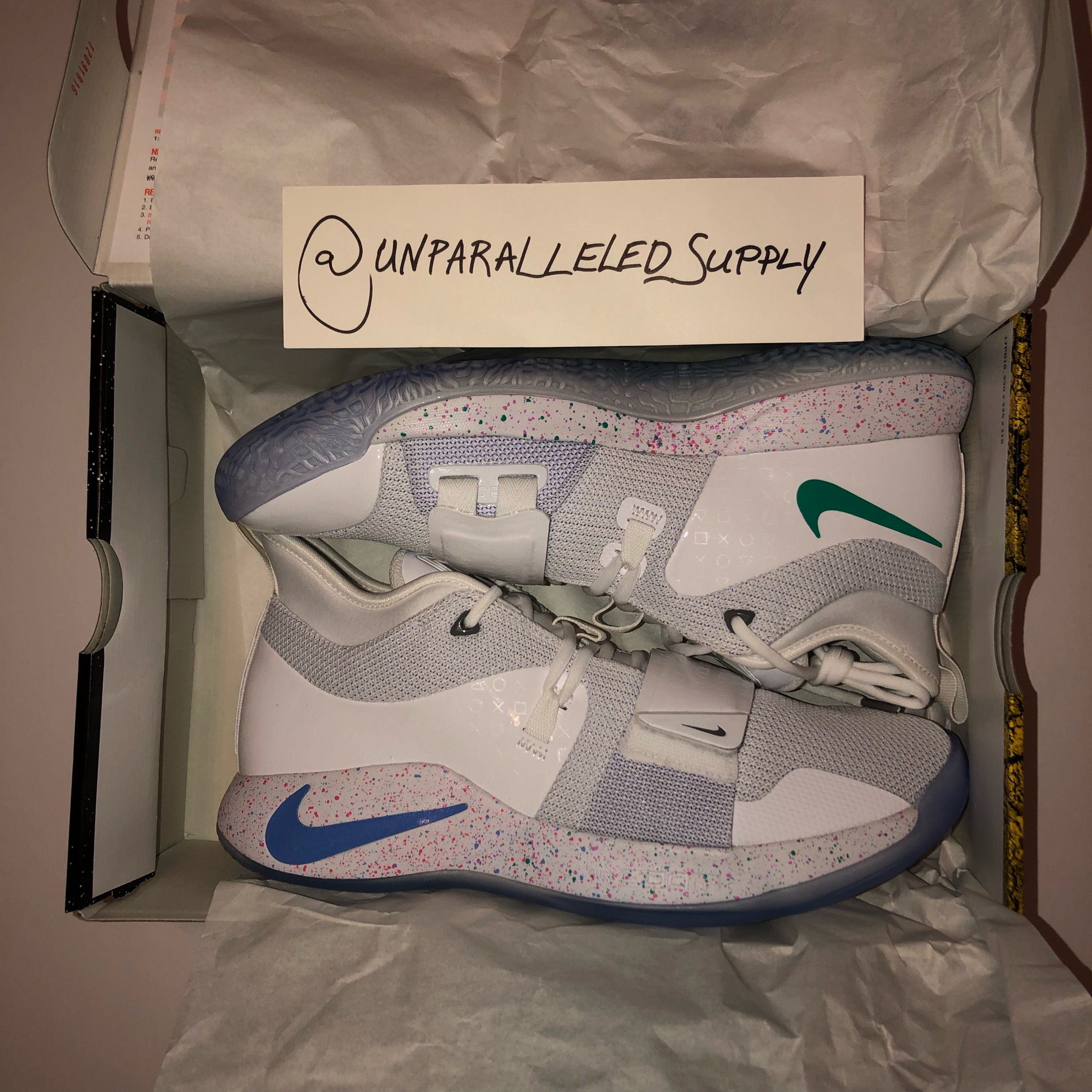 best service 97c57 288e6 Nike X Playstation Pg (Paul George) 2.5 White