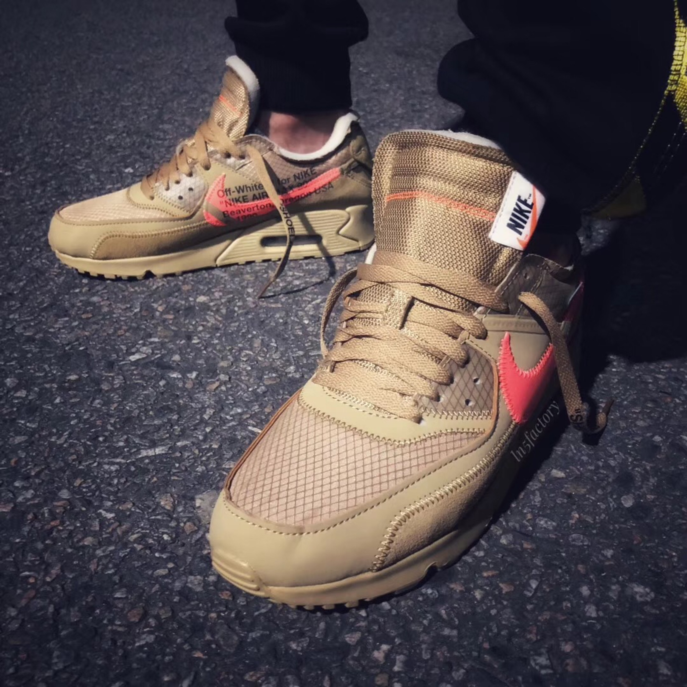 separation shoes bfb4a cba89 Off White X Nike Air Max 90 Desert Ore
