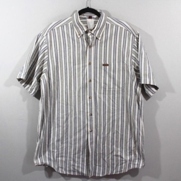 Vintage Carhartt Spellout Striped Shirt