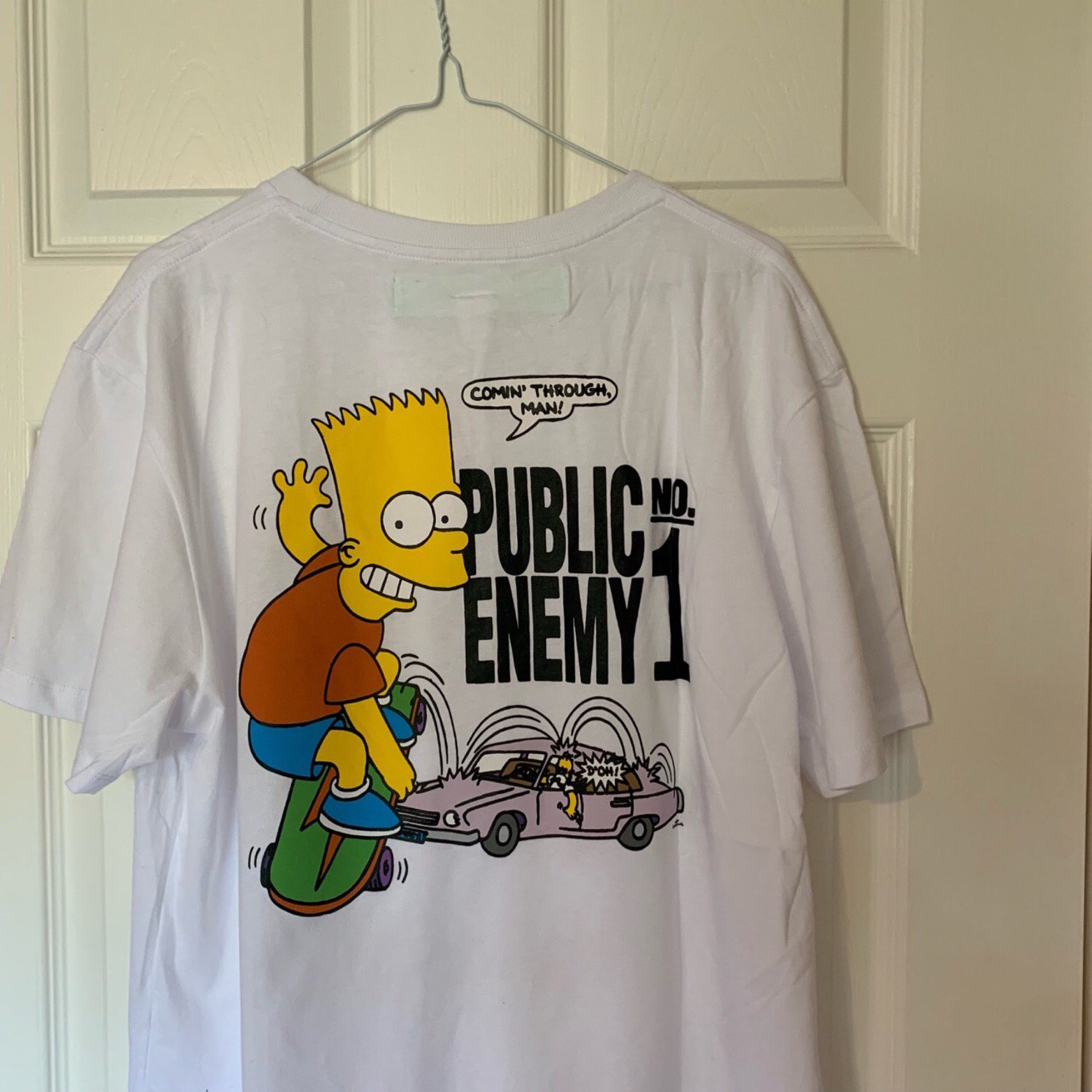 Off White Bart Simpson Public Enemy Tee