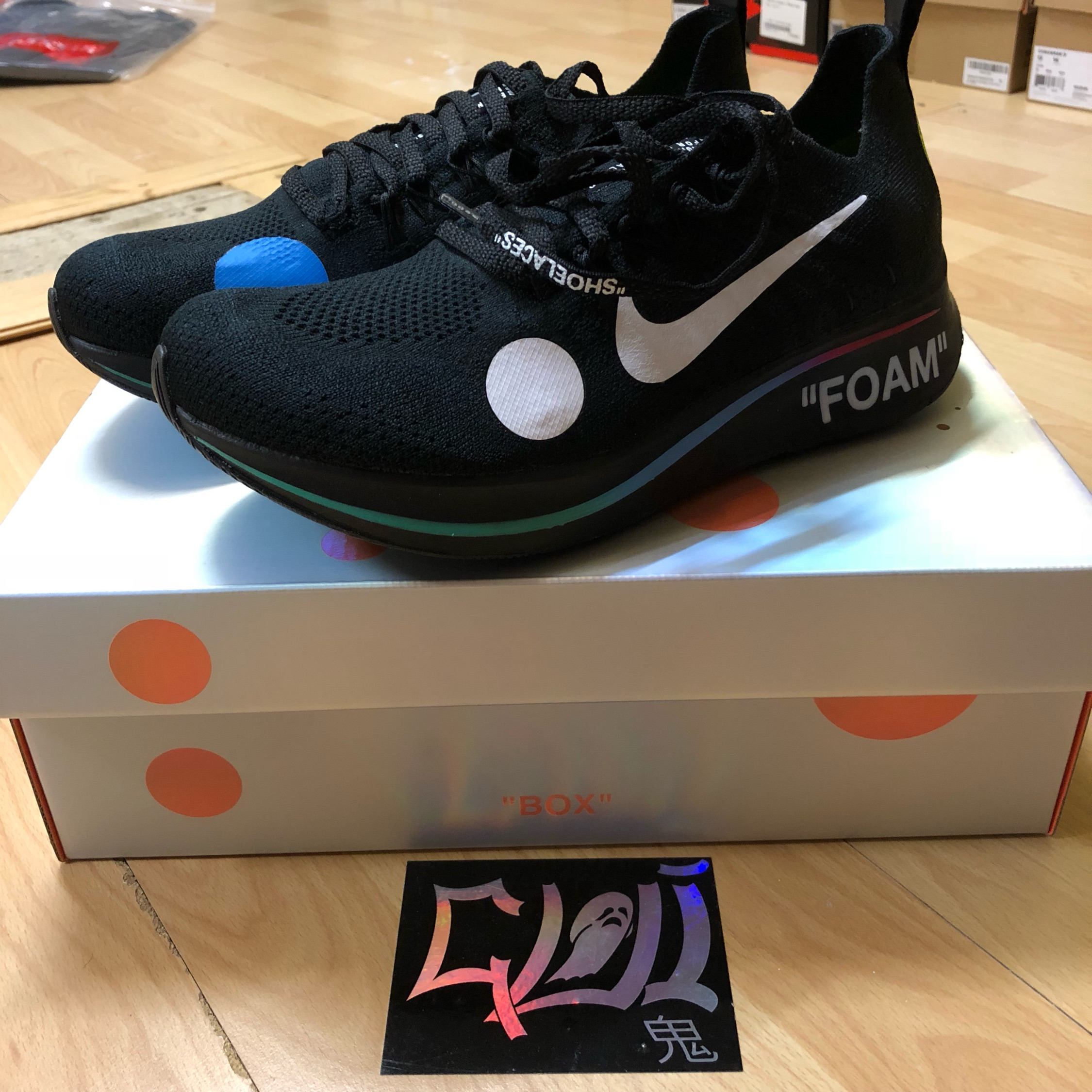 the latest 202a3 7b224 Nike X Off-White Zoom Fly Mercurial Black