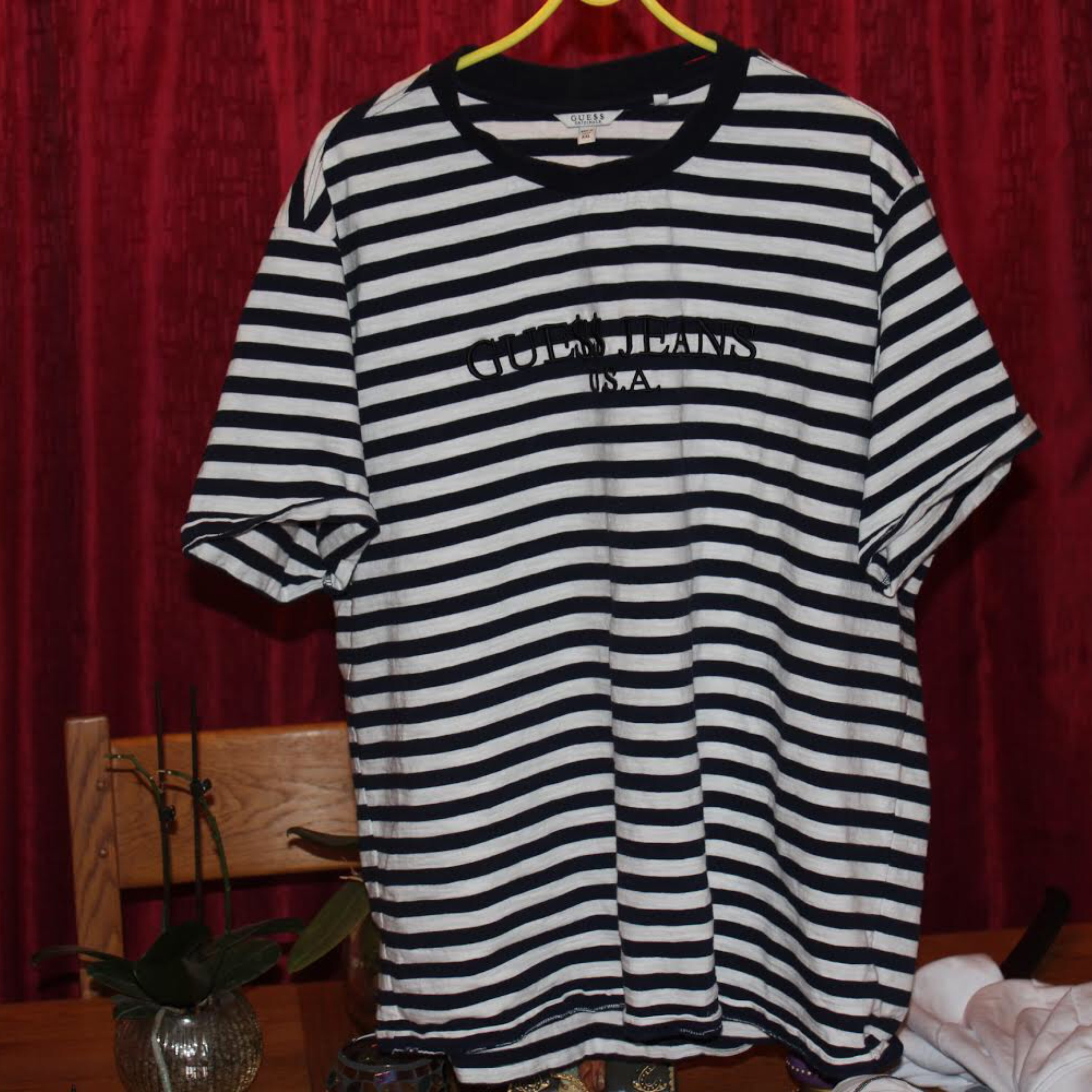 Asap Rocky X Guess Navy Striped Shirt