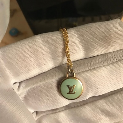 Lv Pendant And Gold Chain