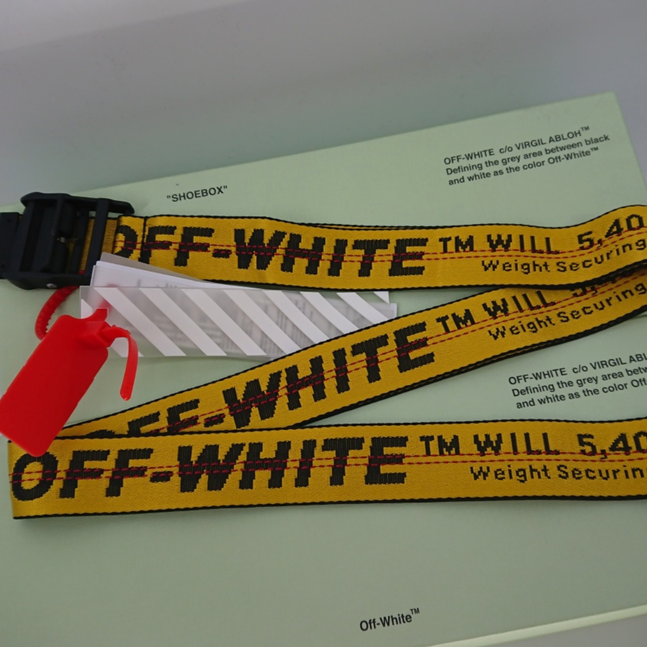 Off White Yellow Industrial Belt New
