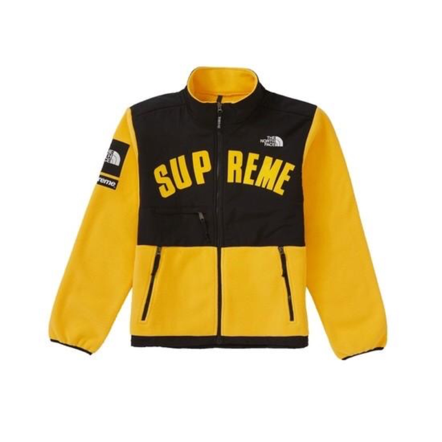 Supreme X Tnf Yellow Arc Logo Fleece Jacket Ds