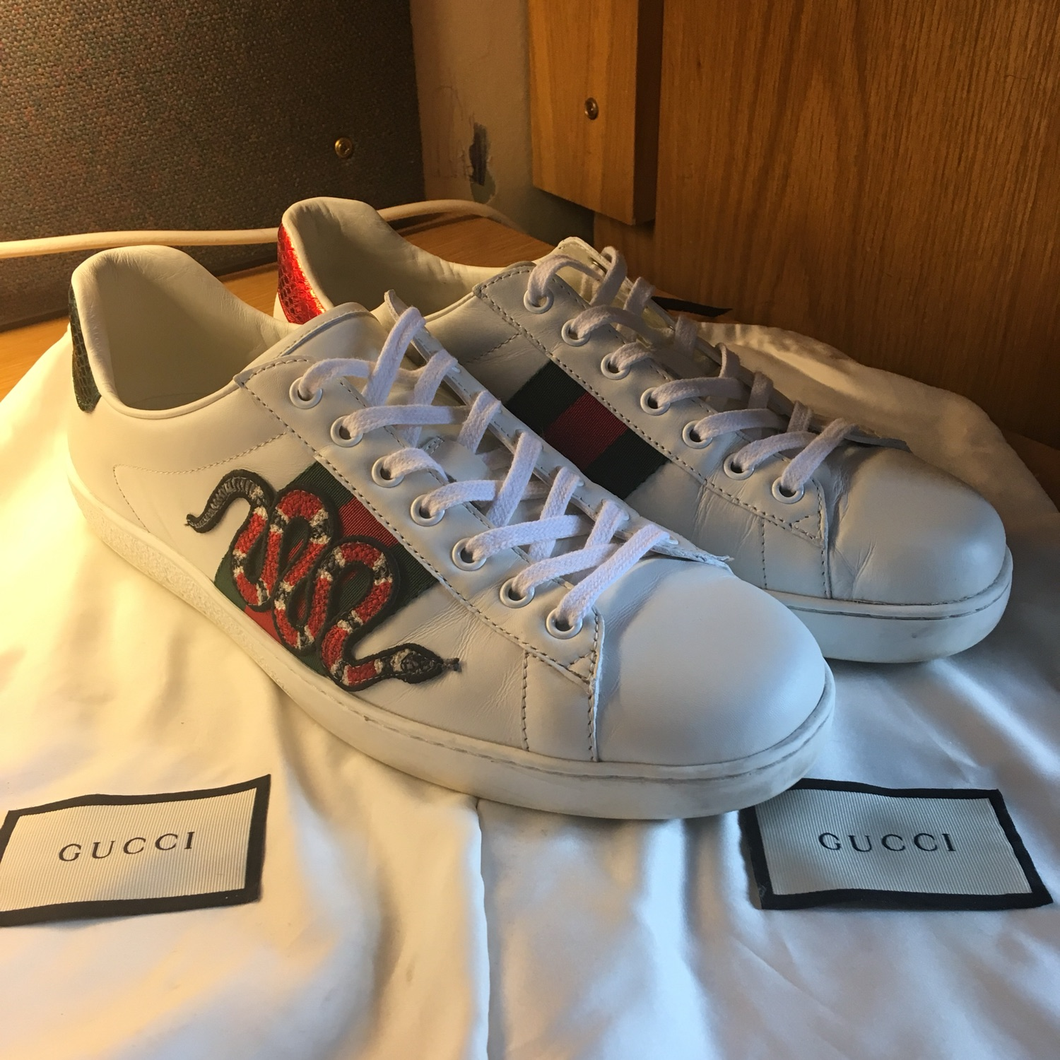 Gucci Ace Sneakers Snakes