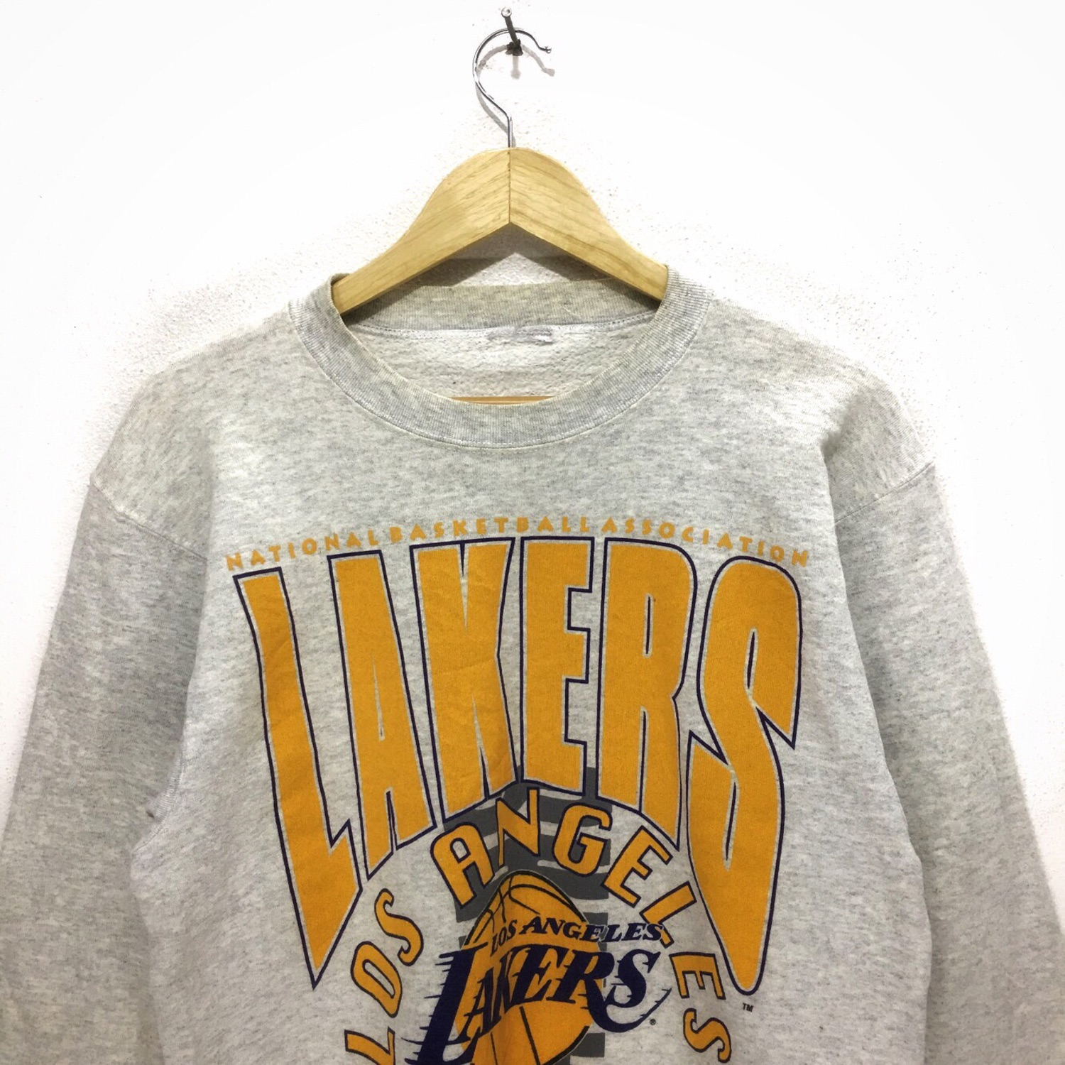 90s Nike Lakers Sweatshirt XXL | Vintage Los Angeles NBA Basketball Oversized Pullover