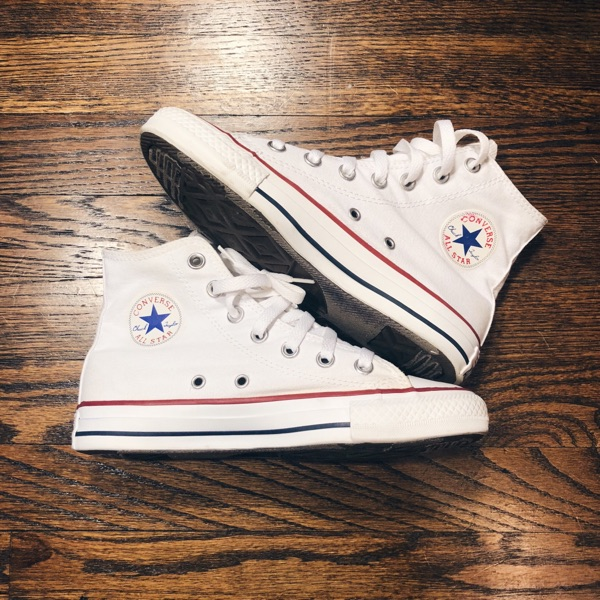 White High Top Converse Sneakers Shoes