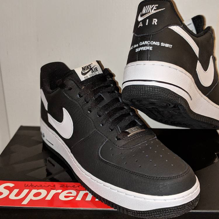 new concept d0cc8 279d7 Supreme X Comme Des Garçons X Nike Air Force 1 Low Uk 11 Us 12 Cdg X Af1