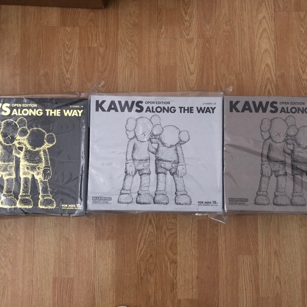 Kaws Along The Way (3X Set) Black/Brown/Grey