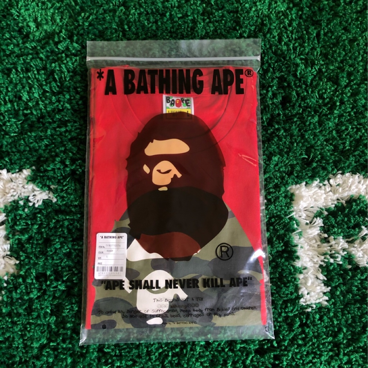 BAPE 1st Camo By Bathing Tee Red/Green