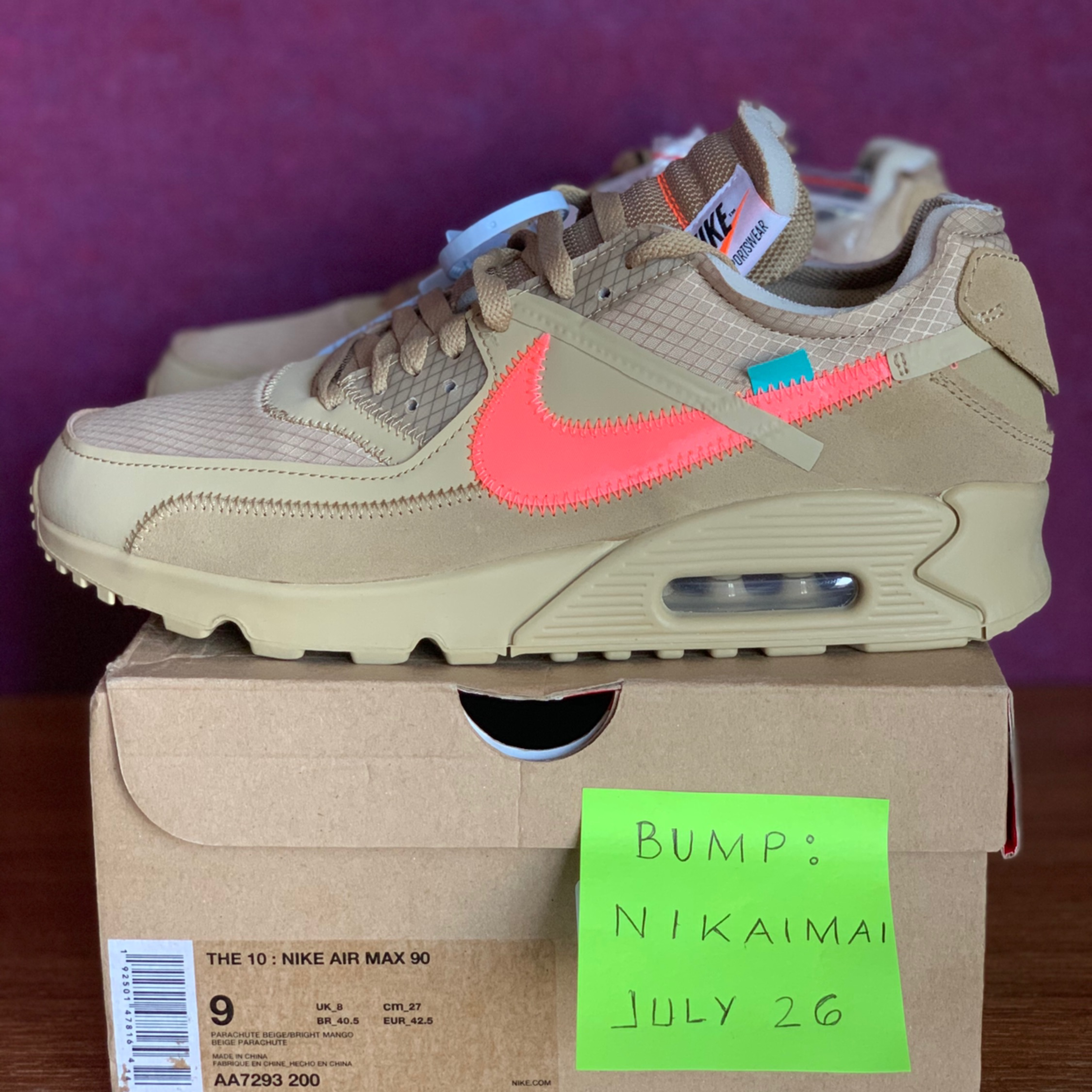 Nike Air Max 90 Off White Mens size 10