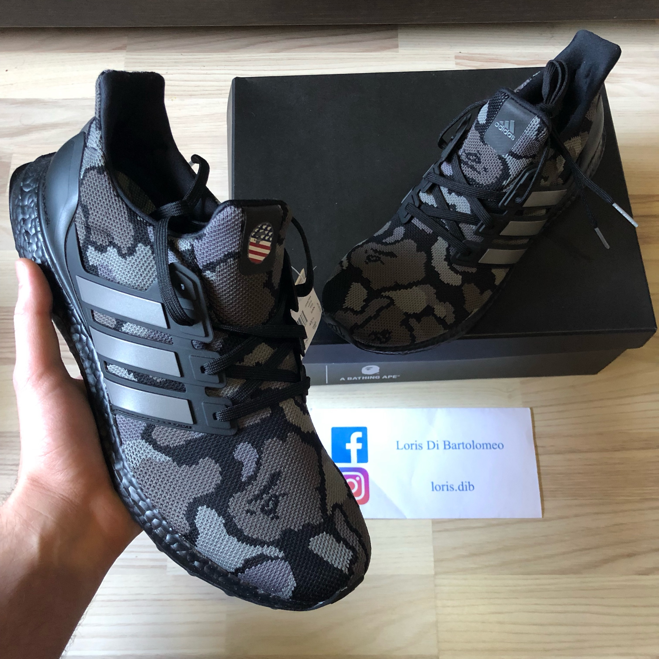 hot sale online de752 5cb83 Bape X Adidas Ultra Boost Black Camo