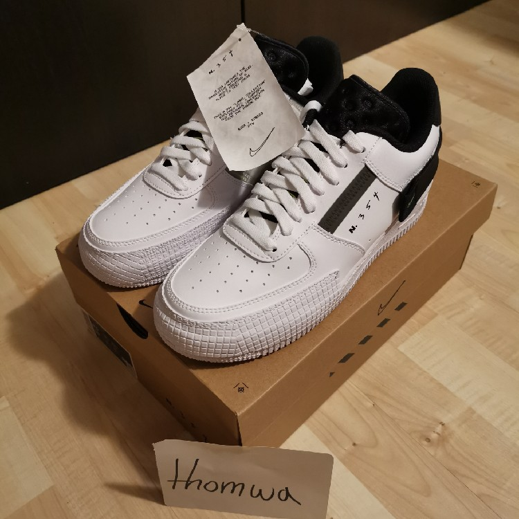 Nike Air Force 1 Low - Type White / Black - US 6 / EU 38,5 - NEW / DS